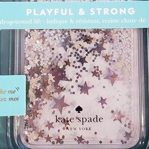 Kate Spade iPhone X Liquid Glitter Case - NIB